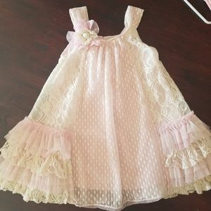 Other - Pink and Cream Lace Dress
